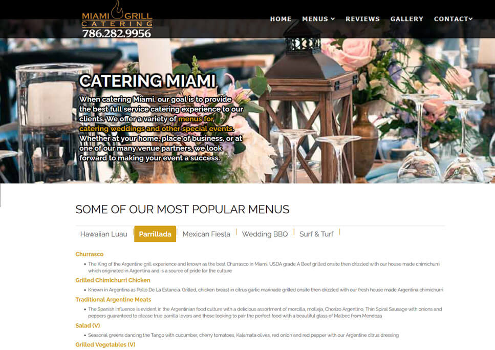 SEO Websiteb | Venues & Catering Services